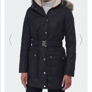 Light Grey Barbour Kirby Long Line, Down Parka